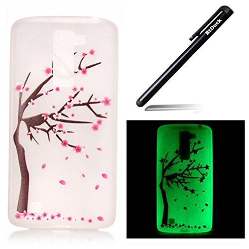 btduck-coque-de-protection-housse-tui-pour-lg-k8-flip-case-cover-lumineux-fleur-de-cerisier-sakura-m