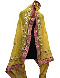 Jaipur Rajasthani Georgette Dupatta With Gota Patti Border And Gota Patti Work