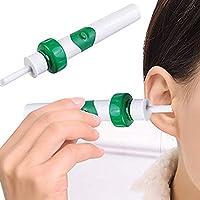 Limpiador de oído sin dolor eléctrico oído limpiador automático cera eliminación kit con pincel inteligente oreja Pick suave oreja cera limpiador fácil limpiar herramientas set para adultos y niños
