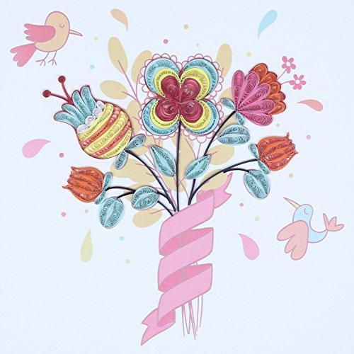 Origami qu044?Grußkarte, Blumenstrauß, Wasserzeichen-Papier, Origami Preisvergleich