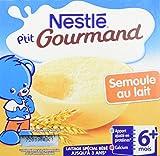 Nestlé Bébé P'tit Gourmand Semoule au lait - Laitage dès 6 mois - 4x100G - Lot de 6