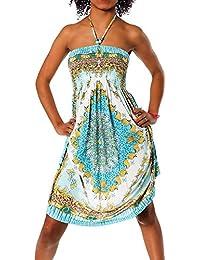Femmes Maxi robe robe de plage robe licou coloré design Bandeau robe de soirée fleur Aztec Paisley Imprimer