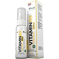 Vitamin D3 Spray 3,000 IU 30ml, Double The Size of Competing Brands, Natural Orange Flavoured, High Potency, Improved Absorption Vegetarian Vitamin D3 Spray by Nu U Nutrition