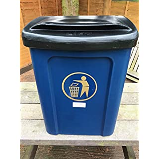 Advancedscape Plastic Litter/General Waste Bin For Wall or Post Mounting in DARK BLUE