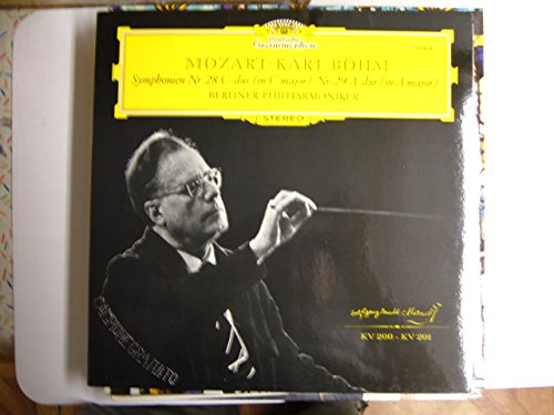 MOZART, Wolfgang Amadeus: Symphony nr.28 in C major, Kv.200; Symphony nr.29 in A major, Kv.201 -- DEUTSCHE GRAMMOPHON ()-Berliner Philharmoniker, Boehm K. (cond)-DGG 139406 LP