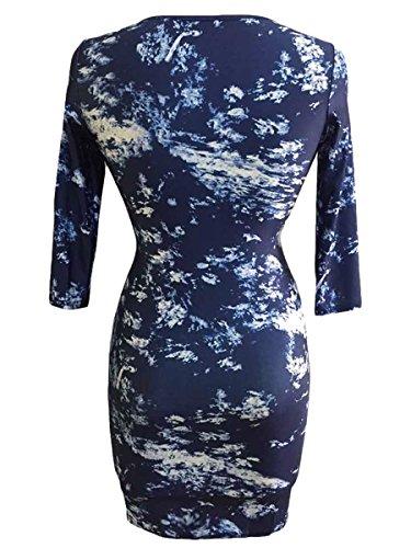 Dissa® SY22460 deman sexy kleider Bodycon Kleid Blau