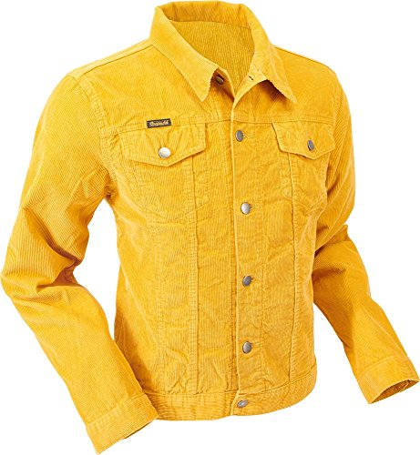 Chenaski Cord Jacke Corduroy Mustard Größe S