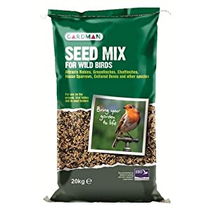 Gardman 20kg Bag Sack Of Wild Bird Seed Mix Food/feed