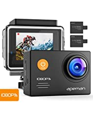apeman Action Cam WiFi FHD 14MP Underwater Camera Waterproof Video Camera with 24