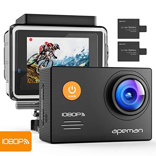 APEMAN Action Cam WiFi FHD 14MP Unterwasser Kamera wasserdichte Videocamera mit 24