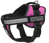 Dogline Unimax multifunktionsunterhemd Geschirr für Hunde und 2Abnehmbaren Bodyguard Patches, X-Large, Pink