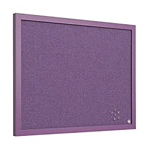 BiSilque Notice Board Framed W600xH450 Lavender Ref FB0469418