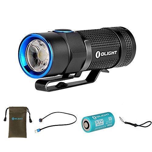 Olight S1R Baton Torcia Ricaricabile Portatile, 6 modalità regolabili LED Cree XM-L2 900 lumen Funzione Timer Batteria 550mAh e Cavo magnetico di ricarica inclusi Bianca Fredda CW