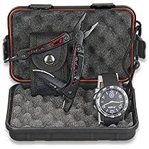 Set regalo: Caja + Reloj táctico negro + Alicate multiusos