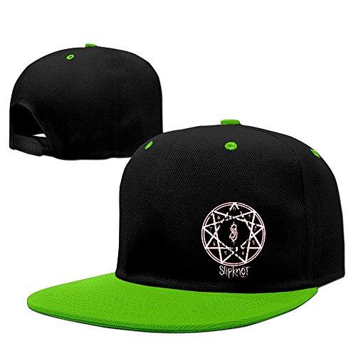 Hittings Slipknot Band Heavy Metal Punk Hip-hop Baseball Hat KellyGreen