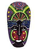 Maschera etnico-Decorazione in legno africano Statua aborigeno tribale Africa Totem da parati 20 cm