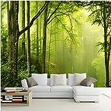 3D Wandbilder Tapete Grüner Wald Baum 3D Fototapete Wohnzimmer Sofa TV Hintergrund Wandbild Papel De Parede XXL 250X586CM