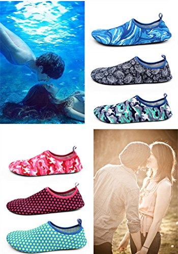 hibote Unisex Herren Damen Barfuß Wasserschuhe StrandschuheAtmungsaktiv Schwimmschuhe Aquaschuhe Surfschuhe SYU-3