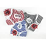 Qchengsan Reusable Washable Cotton Dog Diapers Wraps-Pack of 3,Striped Female Pet Dog Puppy Hygiene Diaper Pants Nappy Pants