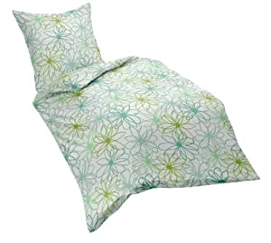 fleuresse 152594 fb 5 seersucker bettw sche 2 teilig gr n 135x200cm k che haushalt. Black Bedroom Furniture Sets. Home Design Ideas