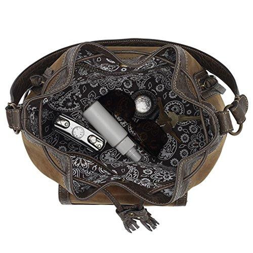 Banadana From American West  Êhobos & Shoulder Bags, Sacs à bandoulière femme charbon