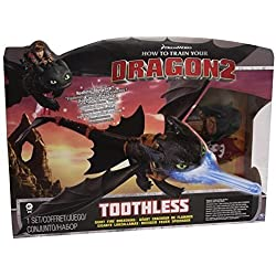 Dragons Night Strike Toothless Deluxe - figuras de juguete para niños (Negro, Azul, AAA, Window box)