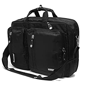 FreeBiz 17.3 Inch Multi-function Laptop Briefcase Backpack with Handle and Shoulder Strap Fits Up To 17 Inch Gaming Laptops Computer Notebook for Dell Hp Asus Msi Tosiba Apple (17.3 Inches, Black) by Freebiz