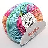 Katia - Candy- Babywolle Fb. 665 bunt 50 g = 180 Meter, Nadelstärke 2,5 - 3