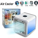 Arctic Air Mini Luftkühler Mobiles Klimageräte Air Cooler USB Ventilator Air Conditioner 3 in 1 Raumluftkühler, Luftbefeuchter und Luftreiniger?3 Stufen und 7 Farben LED Nachtlicht?Tragbarer Tischventilator für Büro,Hotel,Garage und Haus -