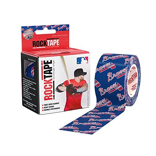 rocktape-major-league-baseball-kinesiology-tape-for-athletes-2-inch-x-164-feet-atlanta-braves-by-roc