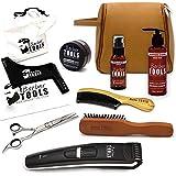 ✮ BARBER TOOLS ✮ Kit/Set/Coffret d'entretien et de soin pour barbe avec Soin de barbier | Cosmetique Made in France