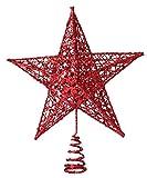 Lukis Weihnachtsstern Weihnachtsbaum Christbaumspitze Schmuck Deko 20*15cm Rot
