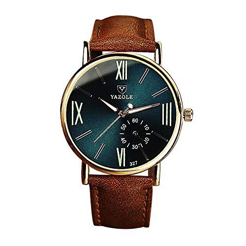 YAZOLE Herren Quarzuhr Römische Skala Freizeit Leuchtenden Zeiger Uhr