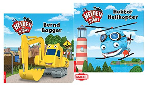 Helden der Stadt - Bernd Bagger Pappbilderbuch + Hektor Helikopter Pappbilderbuch -