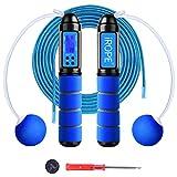 RUNACC Springtouw Speed Rope Verstelbaar digitaal draadloos touwspringen, professionele kogellagers, anti-slip handgrepen, calorieëntellen en timer, mode voor training, fitness, boksen, afvallen