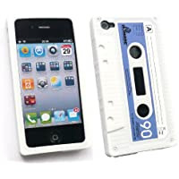 Emartbuy Apple Iphone 4 4G 4Gs 4S Hd Kassette Silicon Case / Cover / Haut Weiß