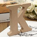 ZHOUBA Freistehende Holz-Z Holz-Buchstaben Alphabet zum Hochzeit Home Party Decor, holz, holzfarben, K
