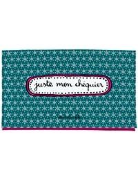 Derrière La Porte DLP - Porte-Chéquier Cartes JUSTE MON CHÉQUIER Vert Rose pour Femme