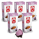 Bonini Kaffeekapseln, Seta - Nespresso kompatibel - 5er-Pack (5 x 10 Kapseln)