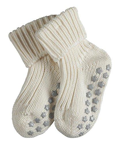 FALKE Baby ABS Stoppersocken Catspads Cotton Baumwolle Einfarbig, Weiß (offwhite), 62-68