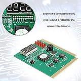 creatspaceDE Maikou 4-stelliges Mainboard PCI PC Computer Motherboard Professioneller Diagnoseanalysator Kartenposttester für Desktop-PCs Farbe: grün