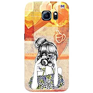 Girl with Camera - Mobile Back Case Cover For Samsung Galaxy S7