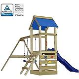 vidaXL Parque Infantil Set con Escalera, Tobogán y Columpios Madera