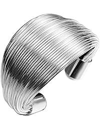 Hosaire 1x Annulaire mode anneau bobine dame anneau simple doigt bijoux en argent cadeau de bijoux