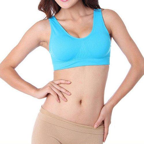 Hoerev double couche de de pull de sport soutien-gorge des femmes, soutien-gorge sans armature Rouge