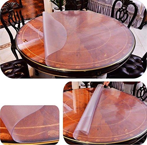 Preisvergleich Produktbild LXCZB Tischdecke wasserdicht und ölbeständig PVC weiches Glas Essen Tischdecke Hotel Restaurant Bankett einfach zu waschen runden Tischdecke Tischläufer ( größe : 120cm )