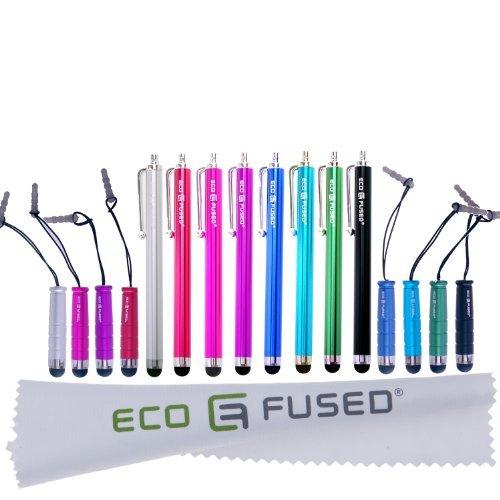 Eco-Fused Stylus Stift Bundle - Universal - 8 Lang / 8 Kurz - Kompatibel mit allen kapazitiven Touchscreen-Geräten - Für iPad, iPhone, Samsung-Telefone und -Tablets, alle Android-Telefone und -Tablets und mehr Universal Bundle
