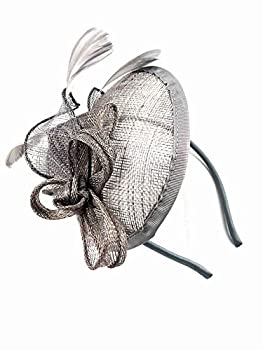 9f3bc7b52fe Large Silver Grey Aliceband Hat Fascinator Weddings Ladies Day Race Royal  Ascot