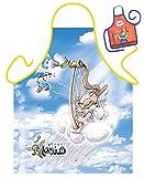 Mega lustiger Scherzartikel Schürze mit kleiner Schürze Aloisius Harfe Geschenkartikel für jeden Anlass Karneval Geschenkidee Spassartikel