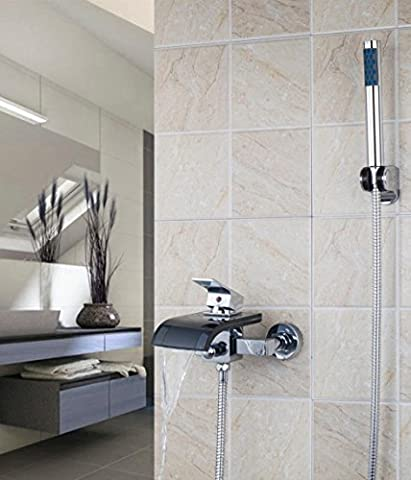 Hot vente meilleur prix Poignée simple l8206Durable mural bec cascade baignoire robinet de baignoire mitigeur lavabo robinet